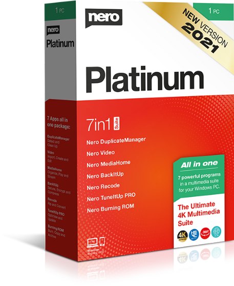 Nero Platinum 2021 All in one programcsomag